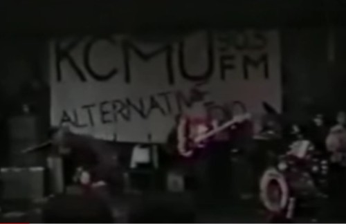 skin yard at kcmu benefit, 1986; posted to youtube by daniel house